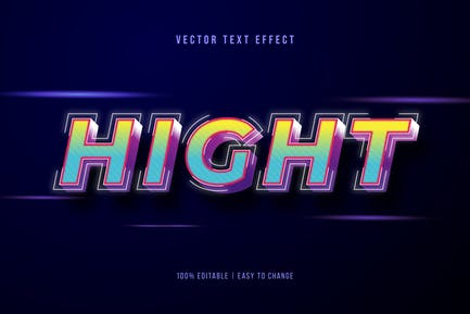 3D Text Effec With Stroke Dotted