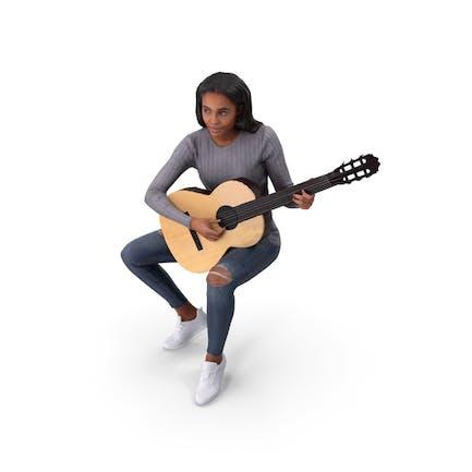 Musician Woman Posed