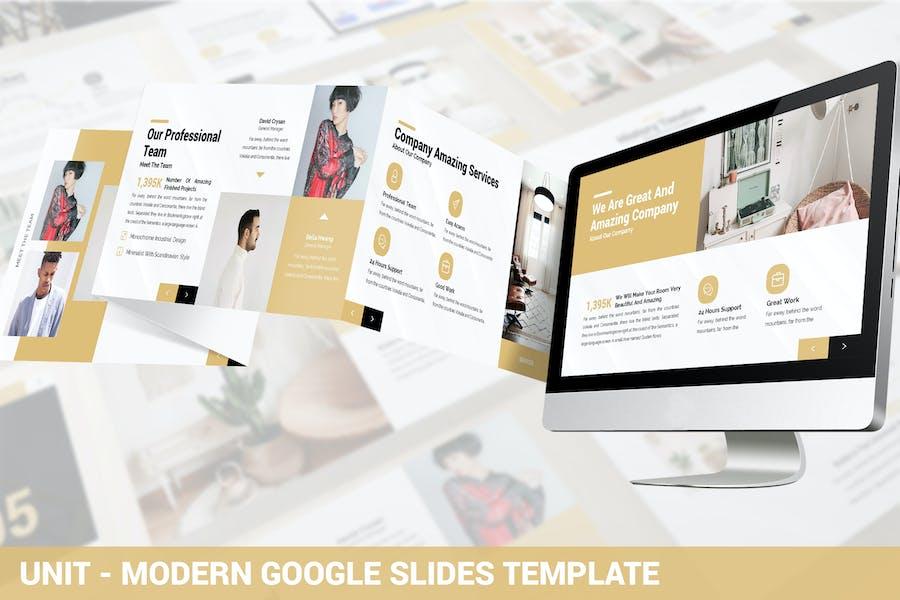 Unit - Modern Google Slides Template