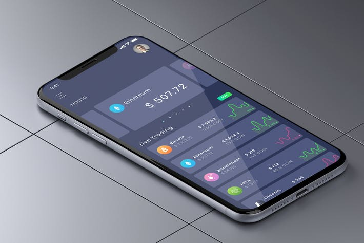 Thumbnail for Crypto Home Trade Mobile Ui - B