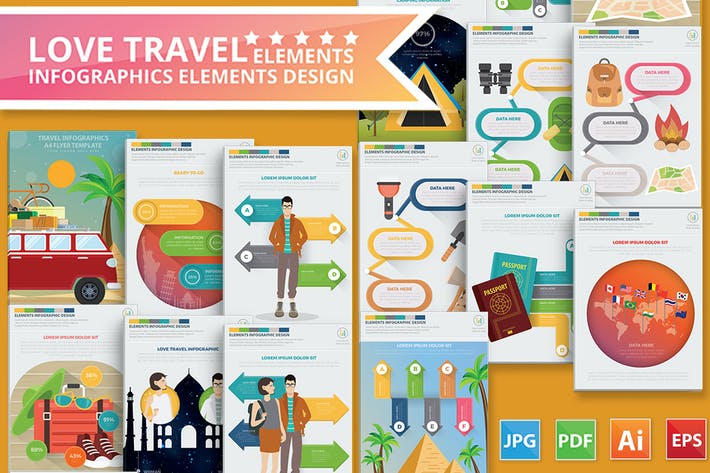 Thumbnail for Love Travel Infographics Design