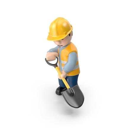 Arbeiter mit Schaufel