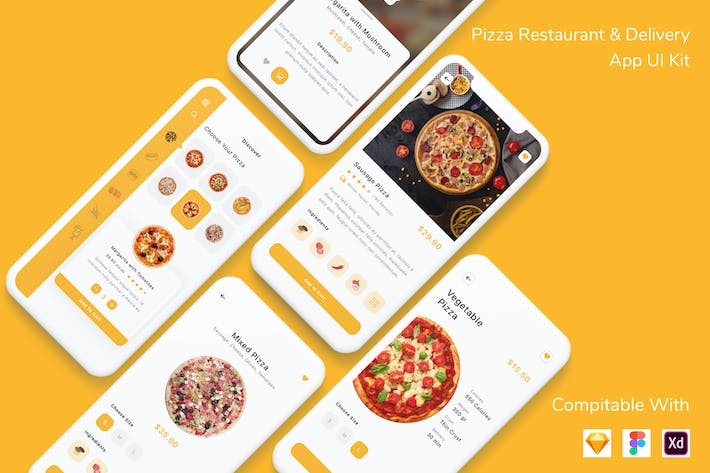 Thumbnail for Pizza Restaurant & Delivery App UI Kit