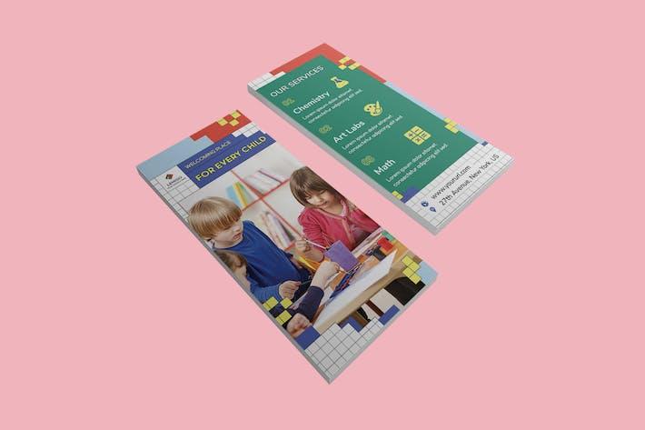 Thumbnail for Plantilla DL Rackcard PSD para niños