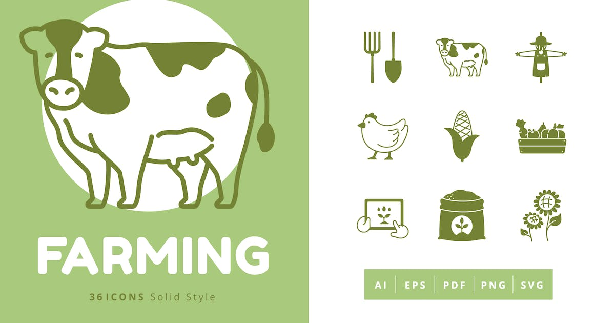 Download 36 Farming Elements Solid Style by Victoruler