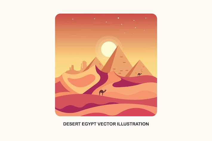 Thumbnail for Desert Egypt Vector Illustration