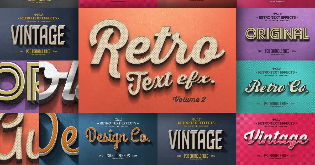 Download Vintage Text Effects Vol.2 by Zeppelin_Graphics