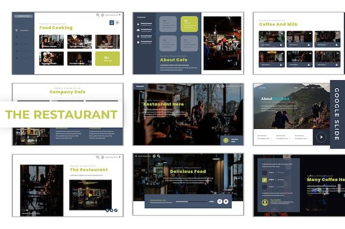 Thumbnail for The Restaurant - Google Slides Template