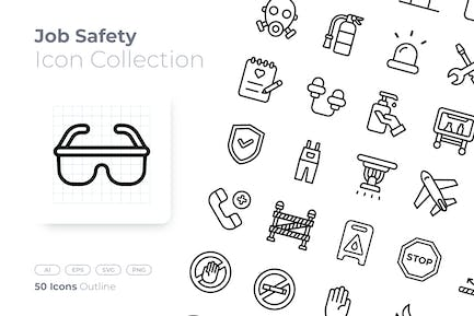 Job Safety Outline Icon