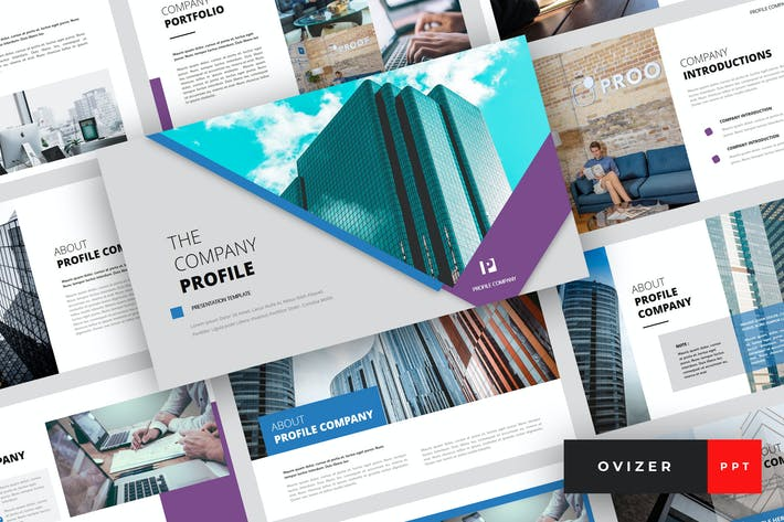 Thumbnail for Ovizer - Company Profile PowerPoint