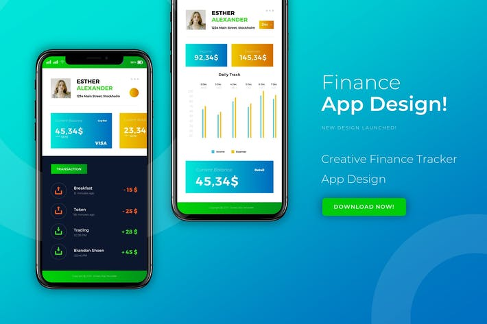 Thumbnail for Finance | App Design Template
