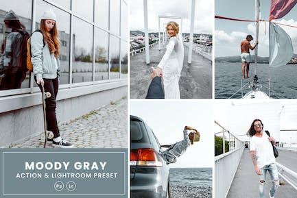 Moody Grey Photoshop Action & Lightrom