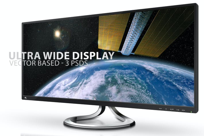 Thumbnail for Ultra Wide Display Mock-Ups