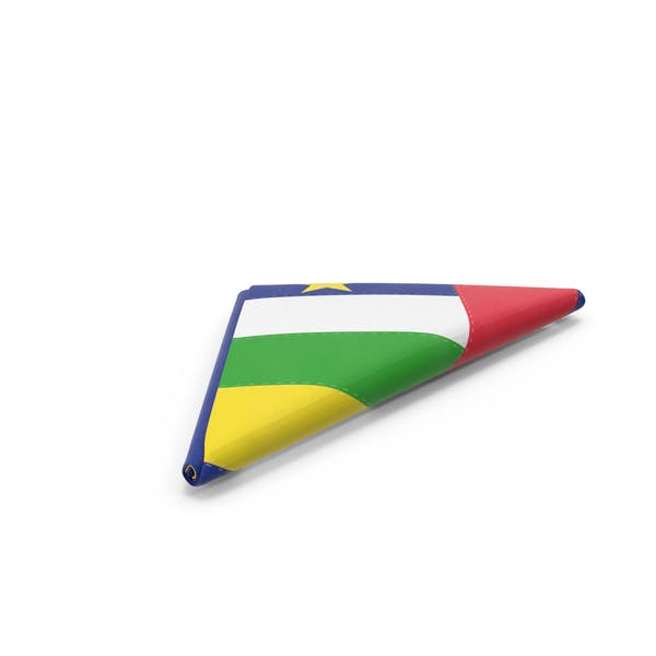 Flag Folded Triangle Central African Republic