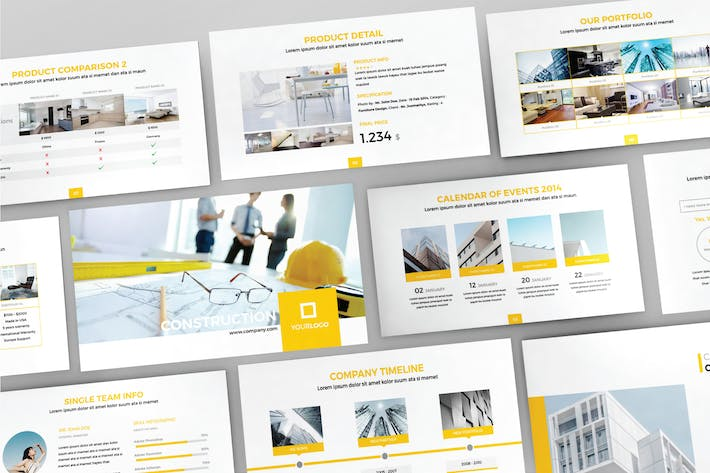 Thumbnail for CONSTRUCTION - Google Slide Template V82