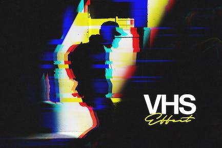 VHS Glitch Photo Effect