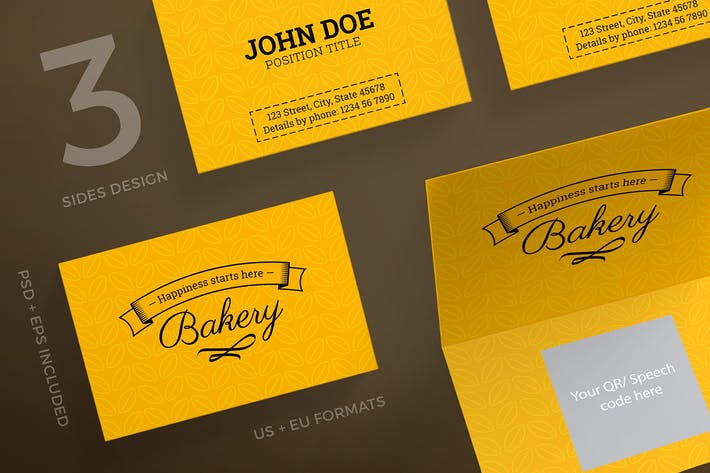 Bakery food business card template by ambergraphics on envato elements cover image for bakery food business card template cheaphphosting