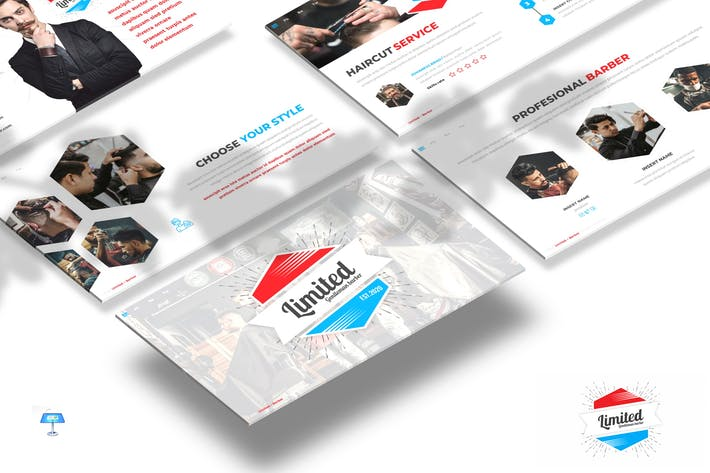 Thumbnail for Limited - Barber Shop Keynote Template
