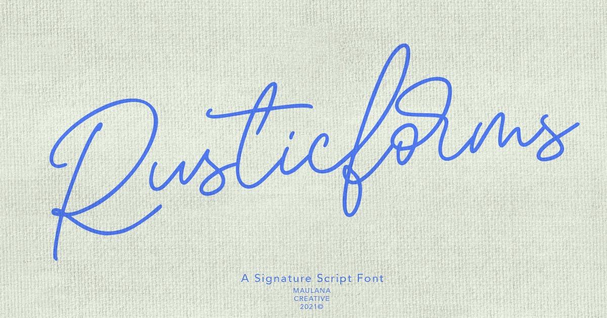 Download Rusticforms Signature Script Font by maulanacreative
