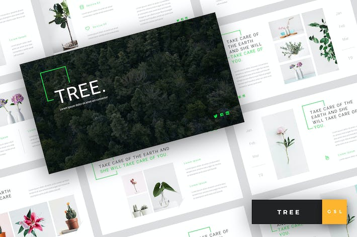 Cover Image For Tree - Green Energy Google Slides Template