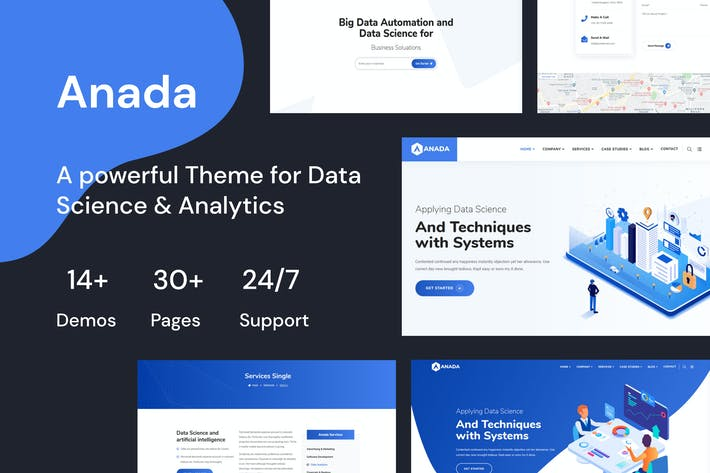 Anada -Data Science & Analytics Landing Page Theme