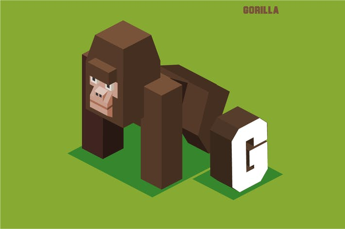 Thumbnail for G for gorilla, Animal Alphabet