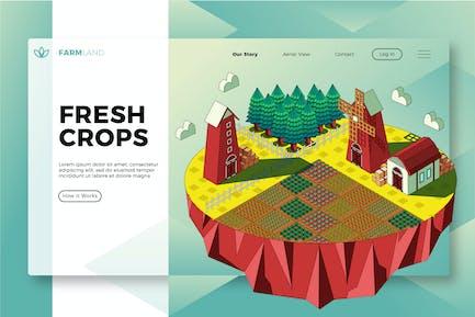 Fresh Crops - Banner & Landing Page