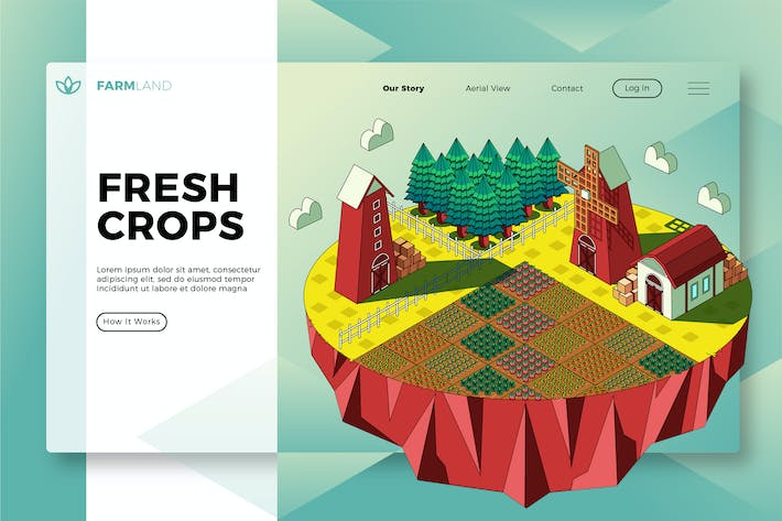 Thumbnail for Fresh Crops - Banner & Landing Page