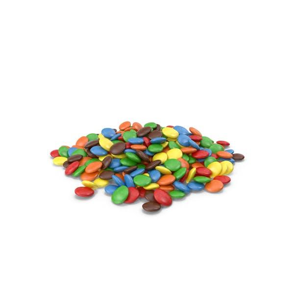 Куча цветных шоколадных пуговиц