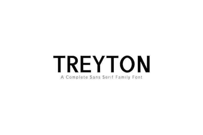 Thumbnail for Семейство шрифтов Treyton С засечками