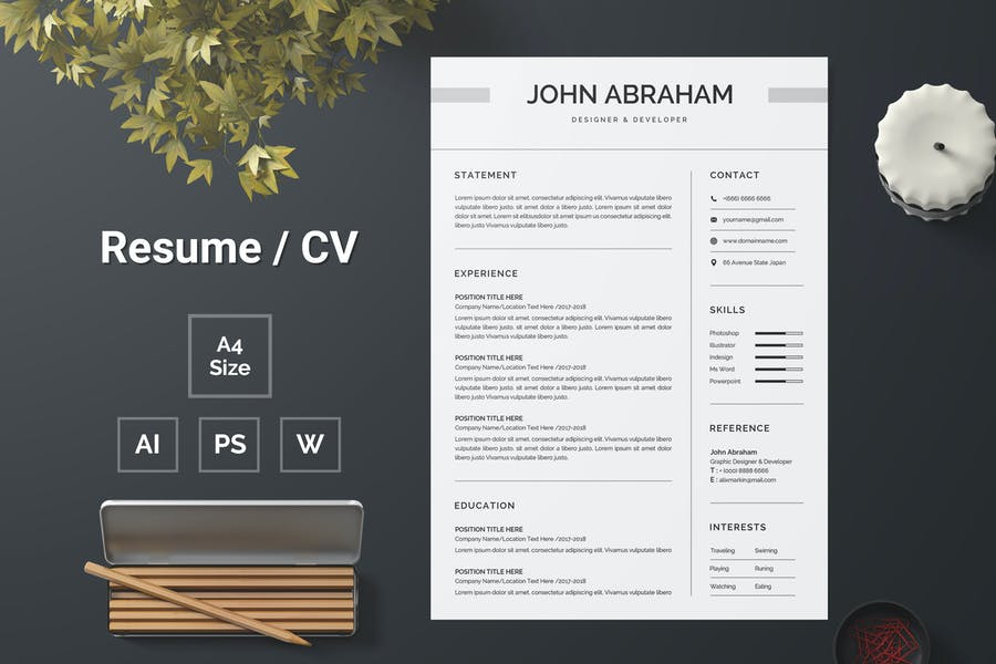 Resume Template 136