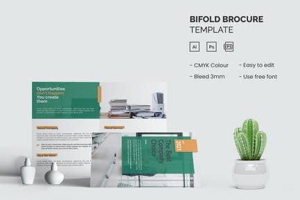 The Best Company - Bifold Brochure Template