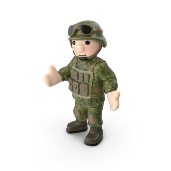 Soldat stehend