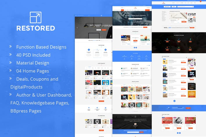 Thumbnail for Restored - Marketplace for Easy Digital Downloads