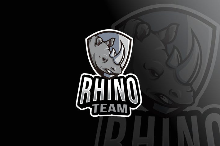 Thumbnail for Rhino Team Logo Template