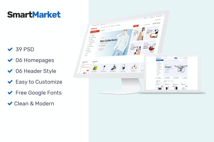 Thumbnail for SmartMarket | Multipurpose Electronics eCommerce P