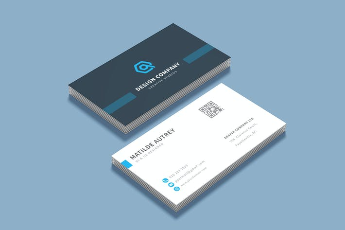 Thumbnail for Business Card Name Template