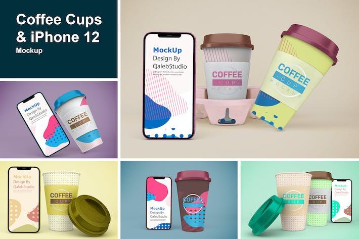 Kaffeetassen & iPhone Mockup