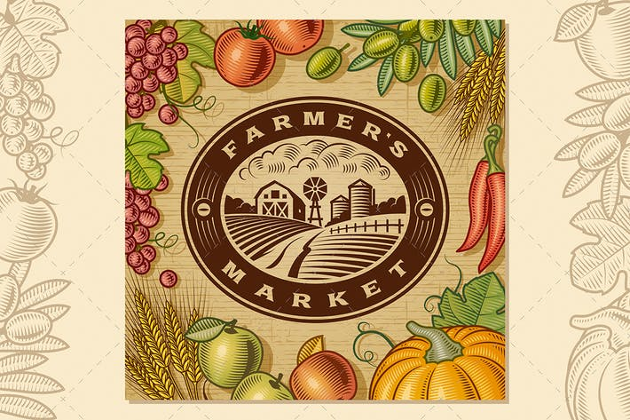Thumbnail for Vintage Farmer's Market Label