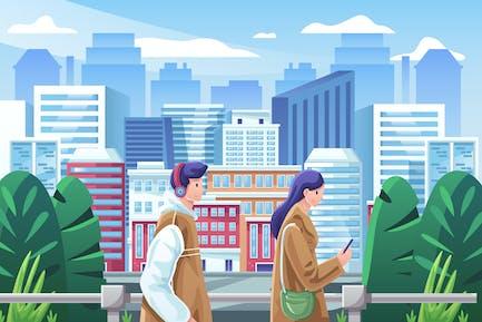 Cityscape Illustration (2 variations)