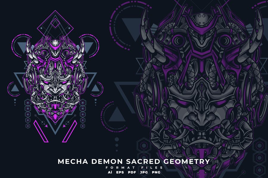 MECHA DEMON SACRED GEOMETRY