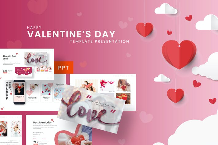 Thumbnail for Happy Valentine - Romantic Powerpoint Template
