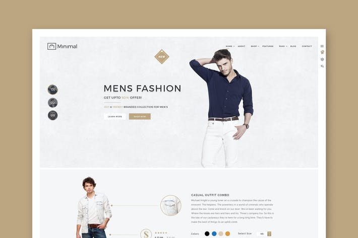 Thumbnail for Minimal Shop - eCommerce PSD Template