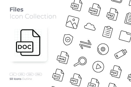 Files Outline Icon