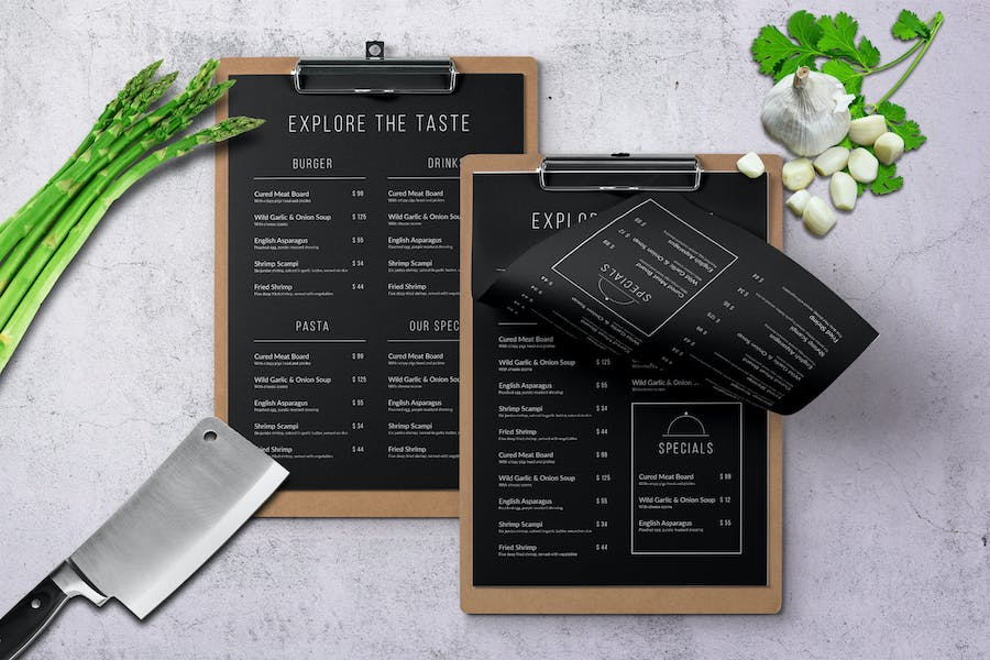 Muller's Single Page A4 & Letter Menu