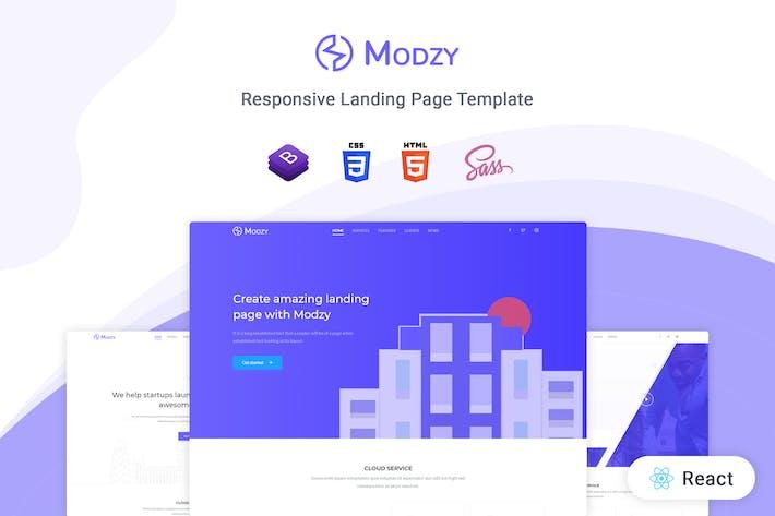 Thumbnail for Modzy - Reaccionar plantilla de página de destino