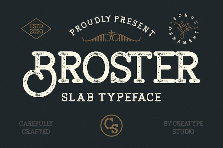 Thumbnail for Tipografía de la losa Broster
