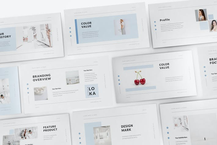 Thumbnail for Loka Brand Guideline Powerpoint Template