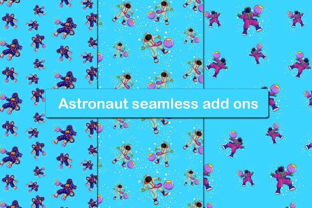 3 Astronaut seamless add ons