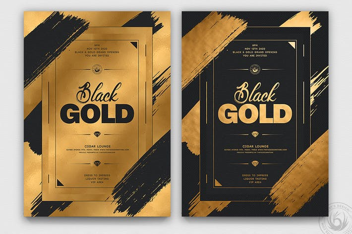 Thumbnail for Black and Gold Flyer Template V15